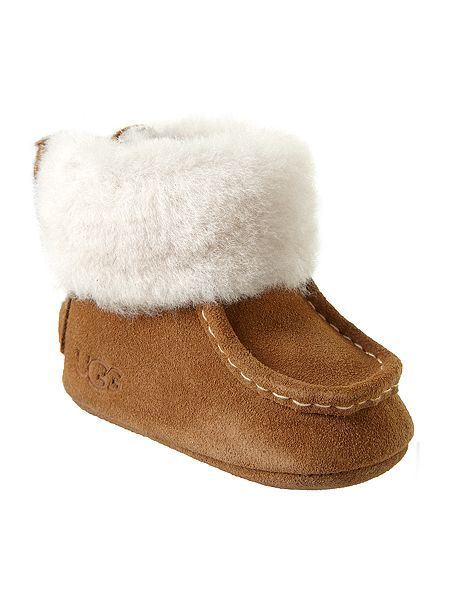 dadd33589da Baby`s fur cuff moccasin | Children's clothes. | Baby girl fashion ...