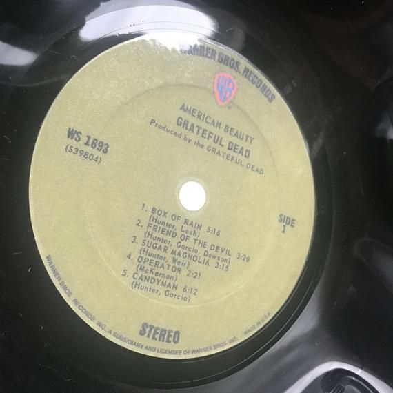 Record Bowl - Classic Rock 12 Vinyl - Vintage 70's Rock Vinyl Collectible - Grateful Dead American #pictureplacemeant