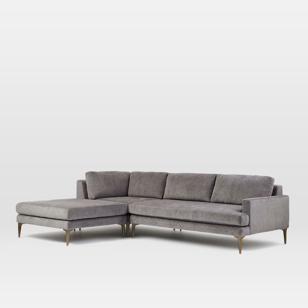 Best Andes 3 Piece Chaise Sectional Reclining Sectional With 640 x 480