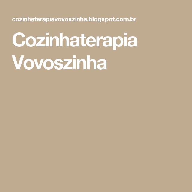 Cozinhaterapia Vovoszinha
