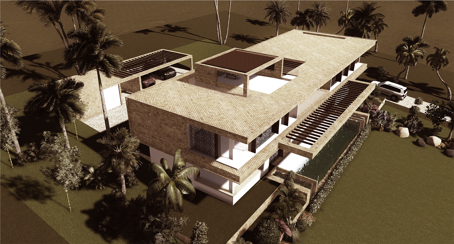 The Coral House In Vipingo, Kenya. Private Client Requested A Contemporary Flat  Roof Design