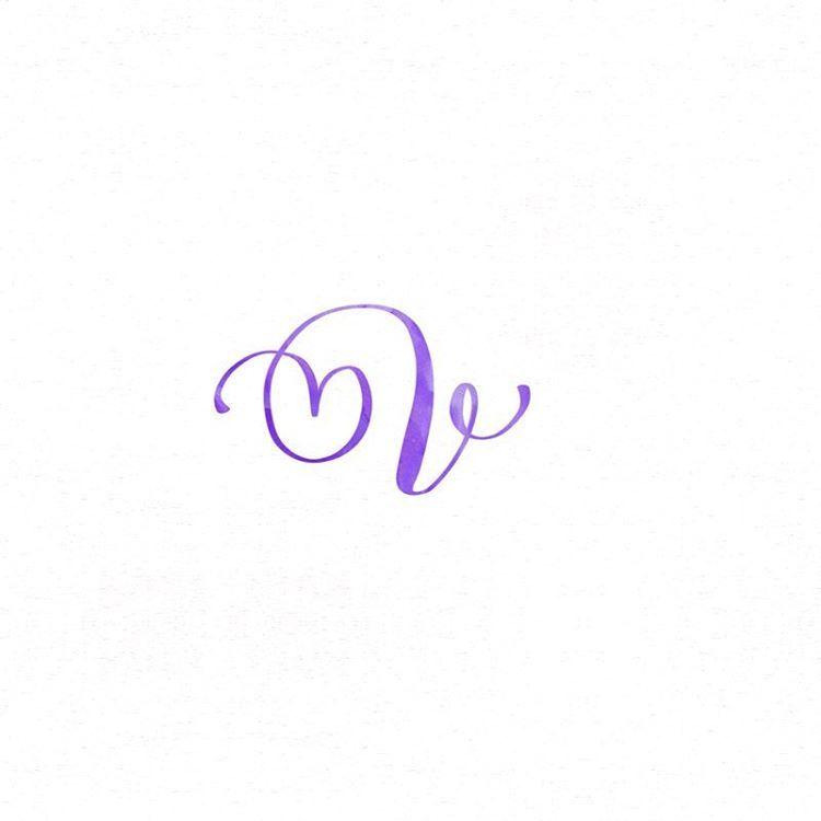 Letter V Winterbird Letterlibrary Handlettering