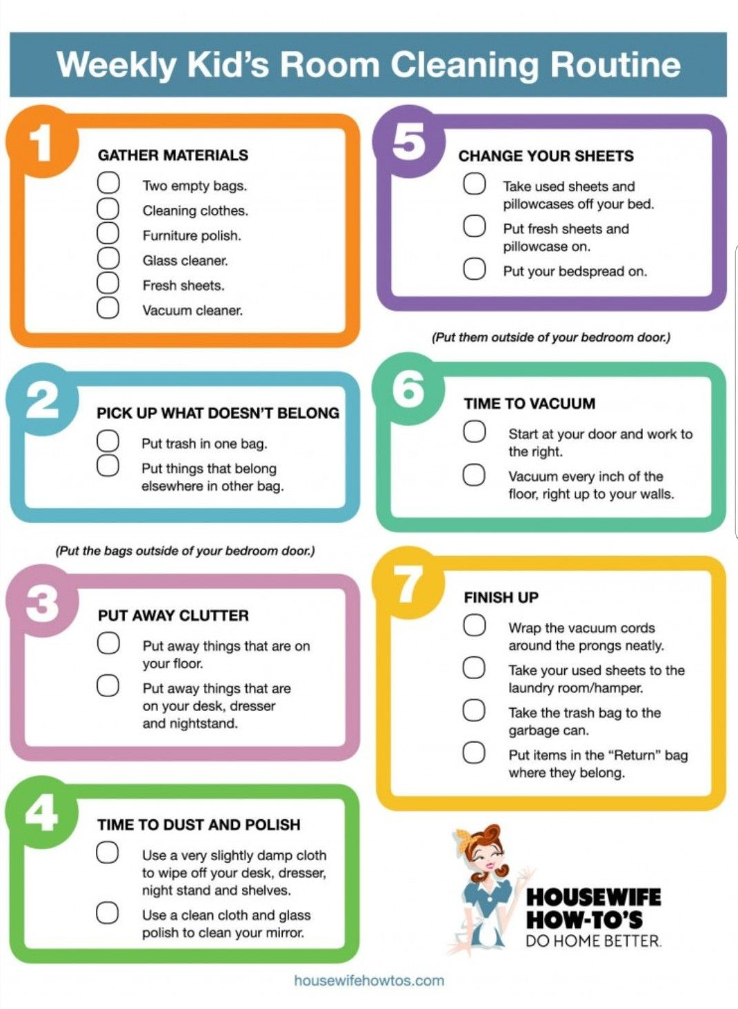 Kid Room Cleaning List Bedroom Cleaning Checklist Cleaning Checklist Bathroom Cleaning Checklist