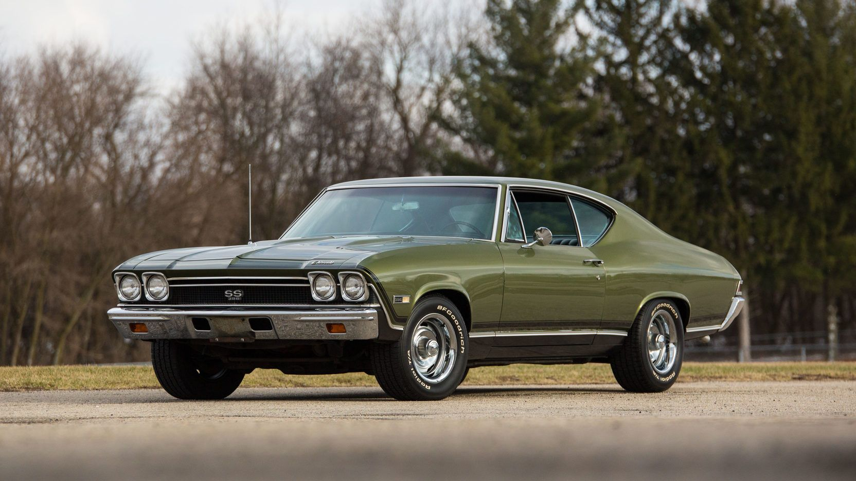 1968 chevrolet chevelle ss396 ss special order verdoro green 395 325hp 4bbl