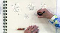 Jill - DIY: Technisch tekenen schelpen en zeesterren