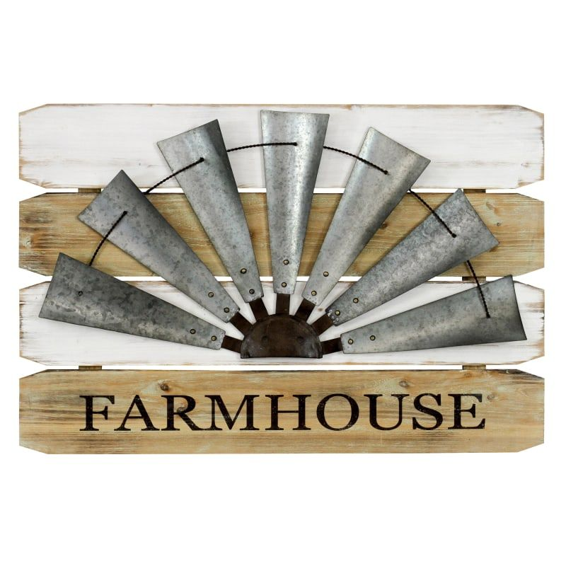 Aspire home accents inch  farmhouse galvanized metal and decor wall sculptures also rh pinterest