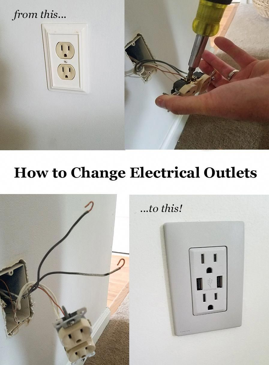 How To Change Electrical Outlets Easy Color Change Outlets From Leviton With Screwless Wallplate Diy Home Repair Electrical Outlets Home Improvement Projects