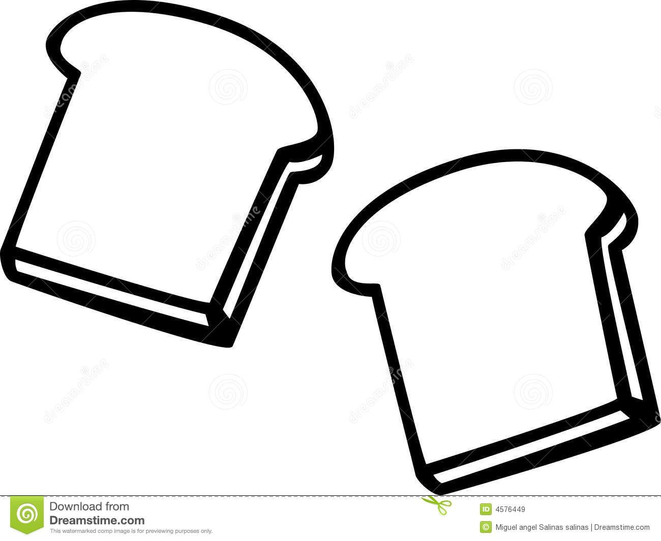 Http Thumbs Dreamstime Com Z Toast Bread Slices Vector Illustration 4576449 Jpg Free Coloring Pages Coloring Pages Color
