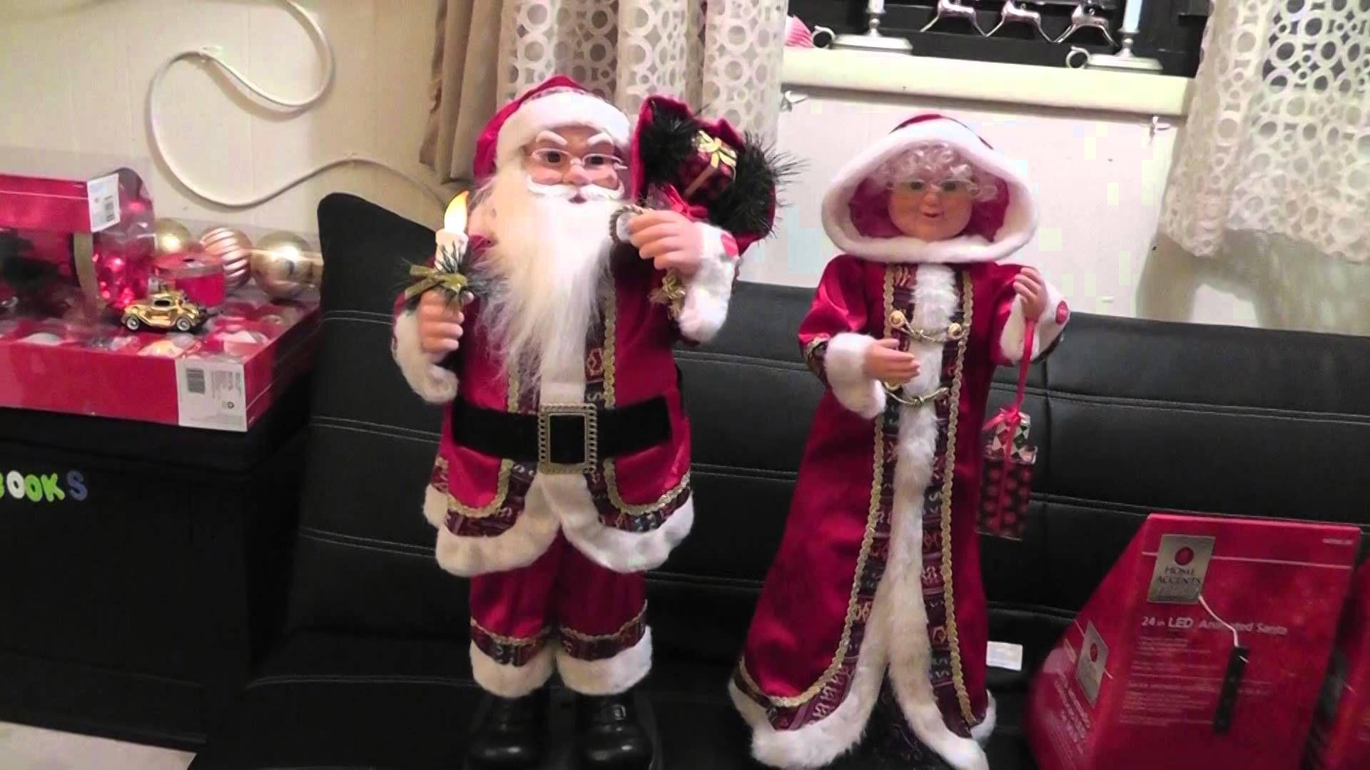 Animated Musical Santa & Mrs Claus My Home Depot Christmas