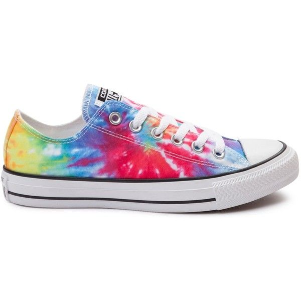 Converse Chuck Taylor All Star Lo Tie Dye Sneaker ($99) ❤ liked on Polyvore