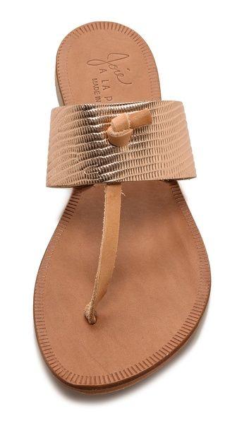 3a49ed09d5866f Joie A La Plage Nice Metallic Thong Sandals