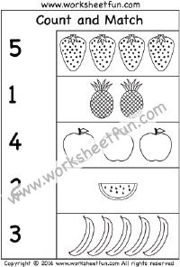 Count and Match – Numbers 1-10