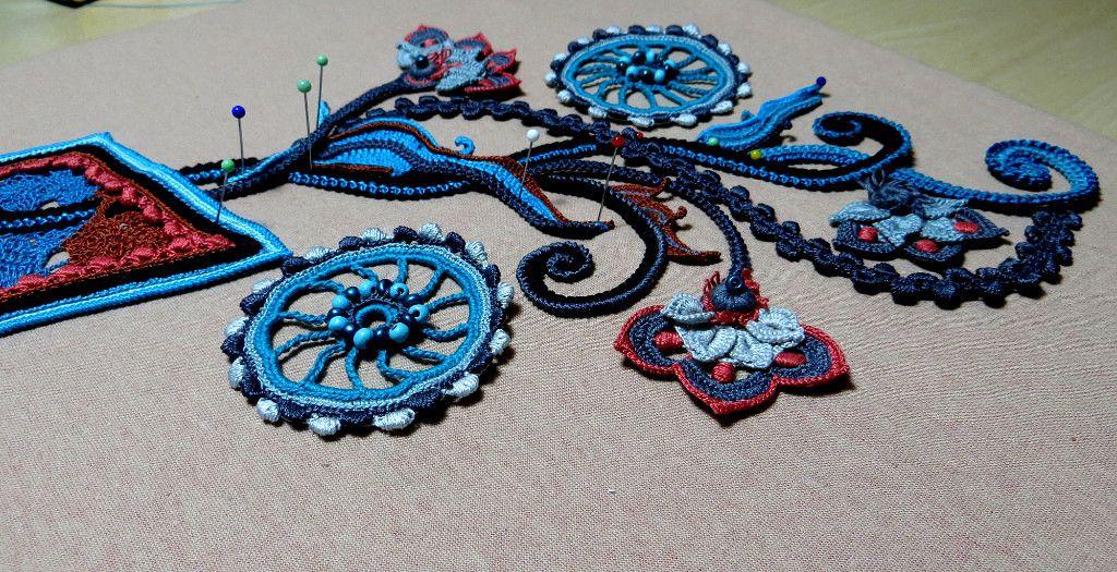 Ася(Галина ) Вертен Irish crochet. Freeform. Motifs. Dress ...