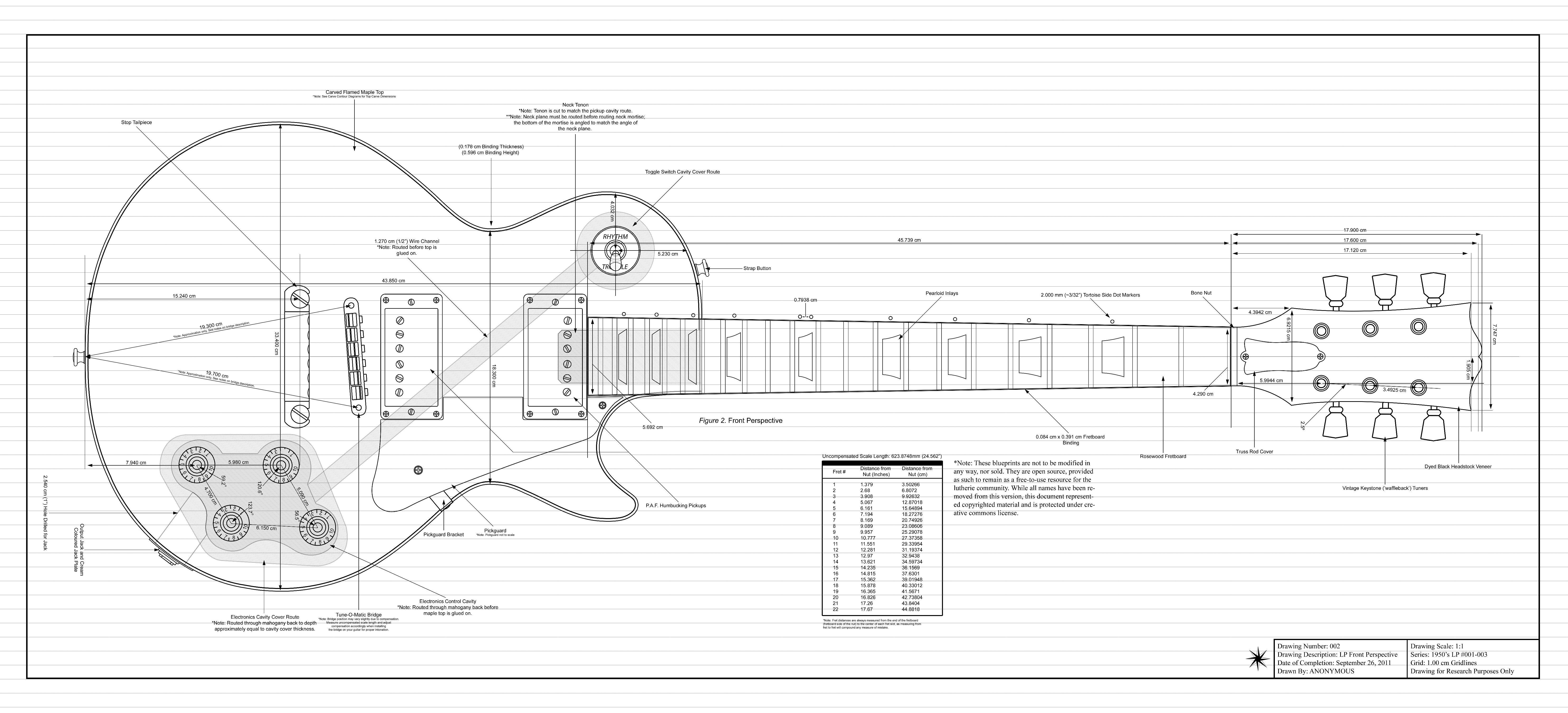 1950 s les paul guitare electrique lutherie amp re basse les paul dessins techniques [ 6600 x 3000 Pixel ]