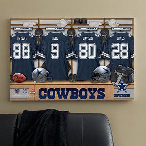 d450cb28d Personalized Dallas Cowboys NFL Locker Room Canvas Print - 10893 ...
