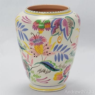 Poole Pottery Carter Stabler Adams Traditional Painted Vase Shape