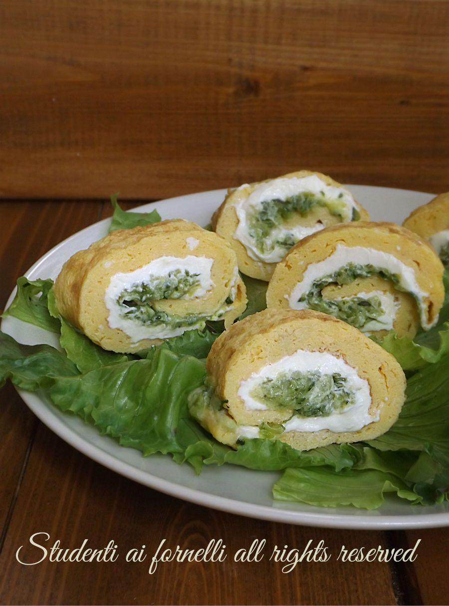 rotolo di frittata zucchine e philadelphia ricetta secondo freddo e gustoso estivo veloce copy