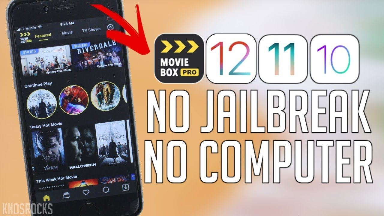 UPDATED Install Movie Box PRO VIP FREE iOS 12 12.1.3