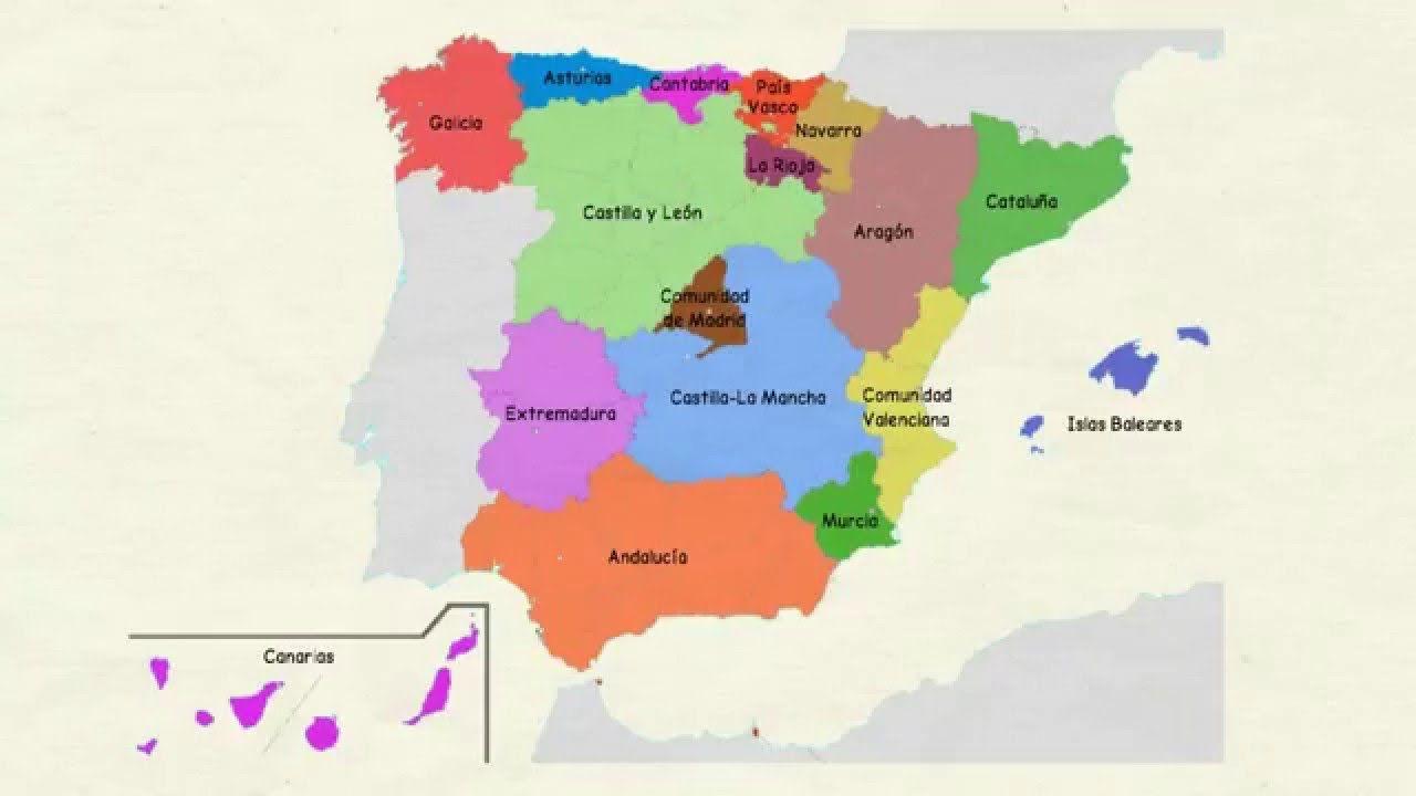 Aprender Español Comunidades Autónomas De España Nivel Básico Comunidades Autonomas De Espana Aprender Español Comunidades Autonomas