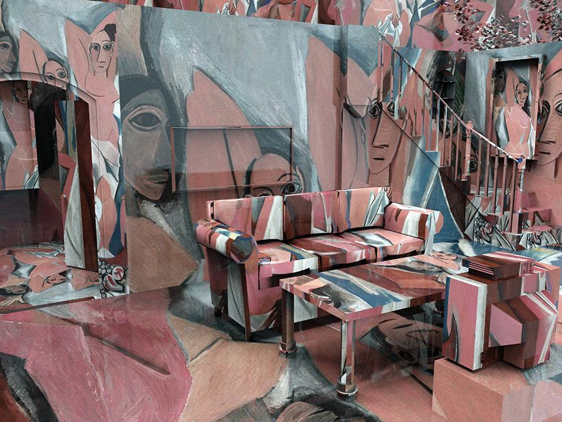 artist wrapped rooms by jon rafman overlay masterpieces onto