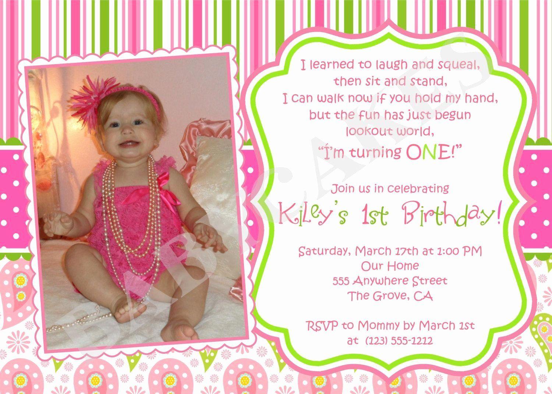 First Birthday Invitation Templates Beautiful 5st Birthday Girl t