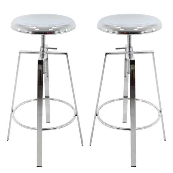 Ohare Backless Adjustable Height Barstool In 2020 Bar Stools