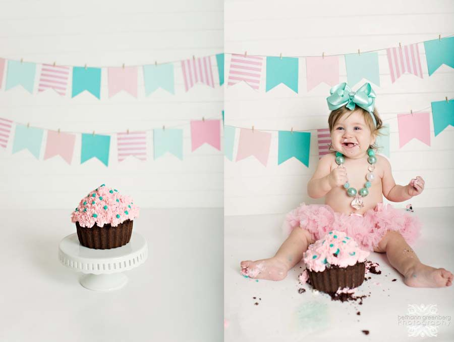 Smash cake session san diego family photographer one year portraits vintage teal