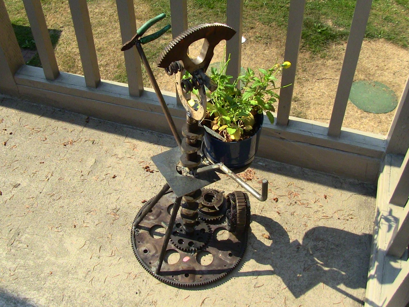 Unique Garden Junk Art | The Avant Garden: Junk Punk Metal Garden Art Welded