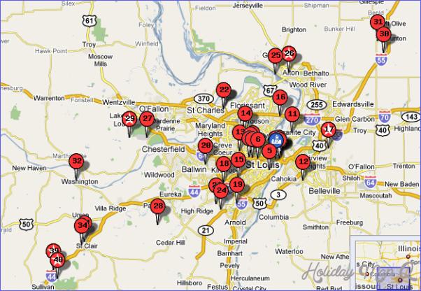 St Louis Map Tourist Attractions httpholidaymapqcomstlouis