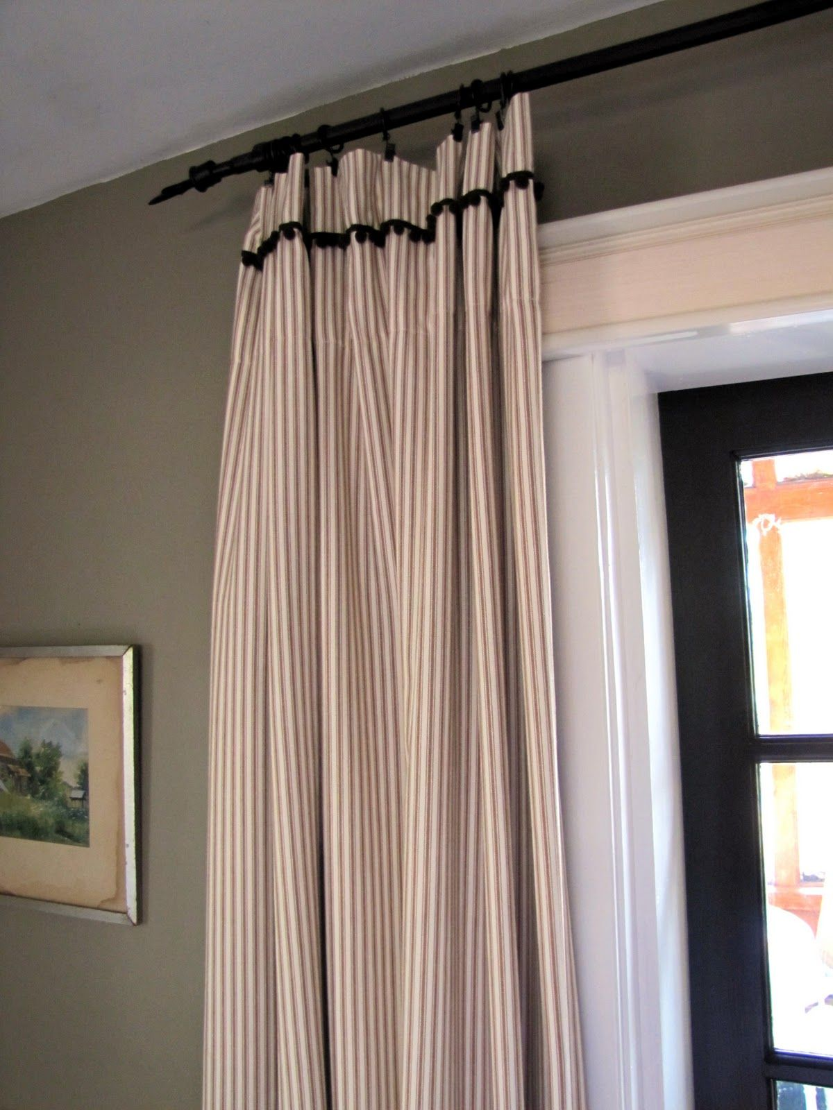 pillow ticking curtains these curtains are me I love