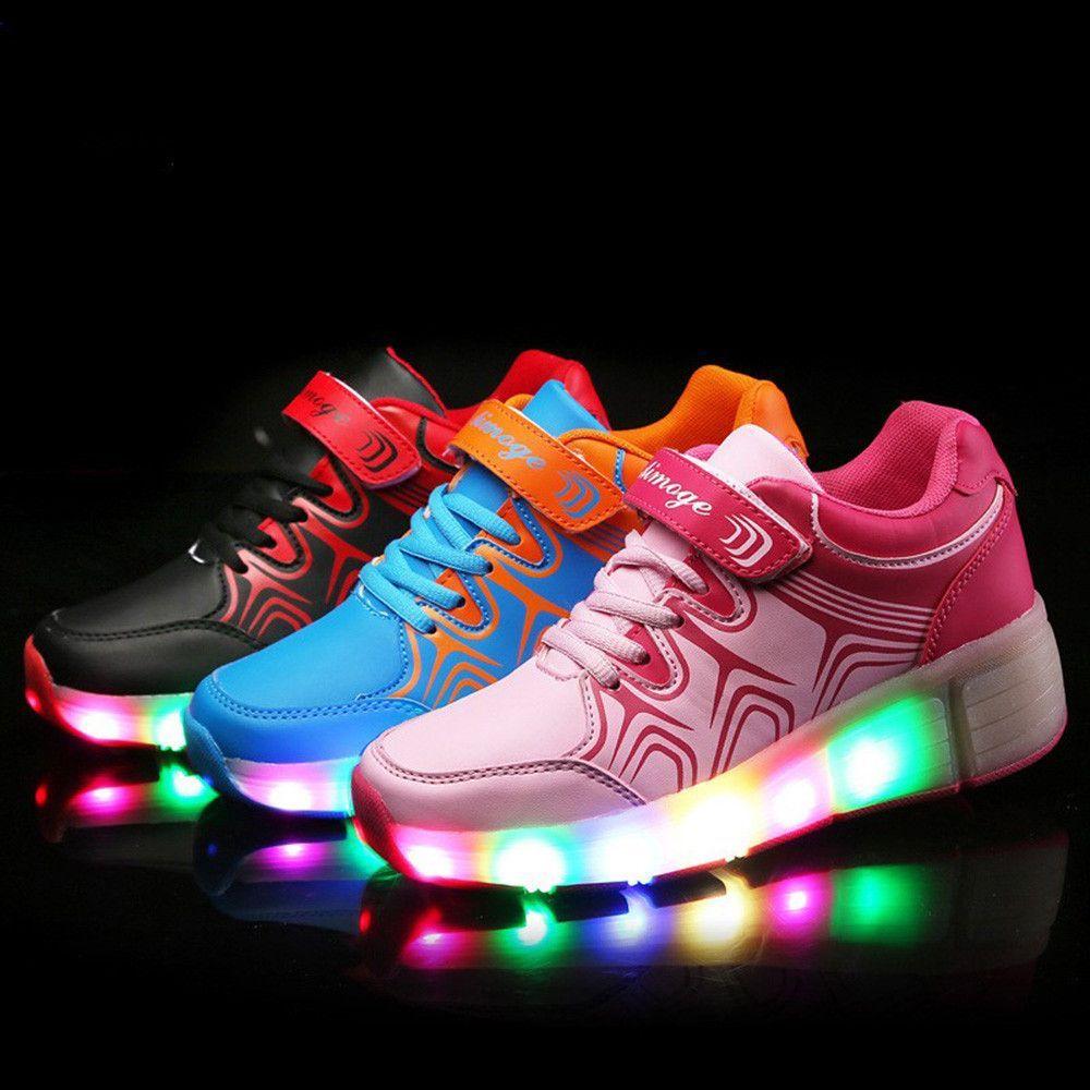 d98bd8d3c853 Child led light wheels shoes girls boys breathable roller skate trainers  kids sneakers children shoes zapatos de rueda