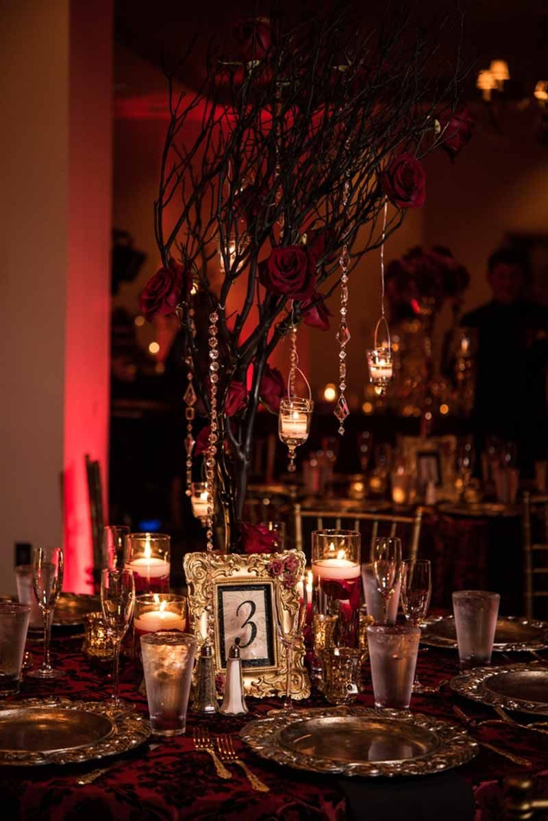 phantom of the opera inspired wedding at the bohemian