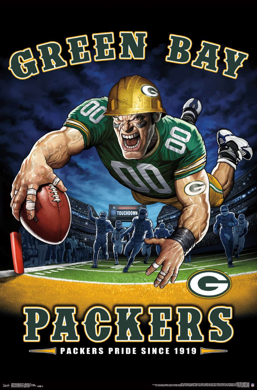 Nfl Green Bay Packers End Zone 17 Green Bay Packers Wallpaper Green Bay Packers Football Green Bay