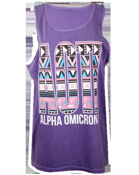 Alpha Omicron Pi Together Tank Top by Adam Block Design | Custom Greek Apparel & Sorority Clothes | www.adamblockdesign.com