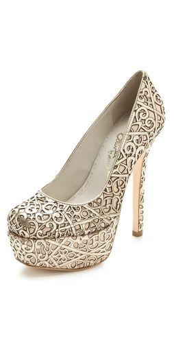 Larimore Laser Cut Pumps. Give me. Give me now.