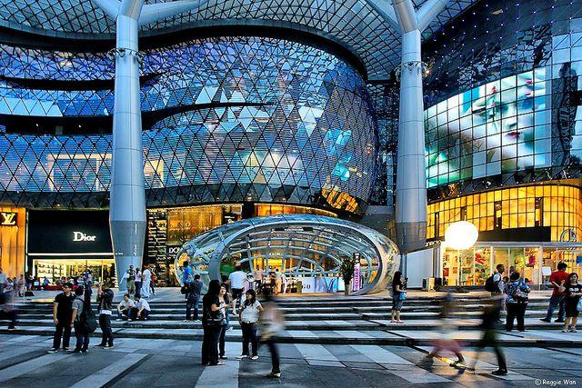 Futuristic Facade Of Ion Orchard Mall Facade Facade Pedestrian Walkway