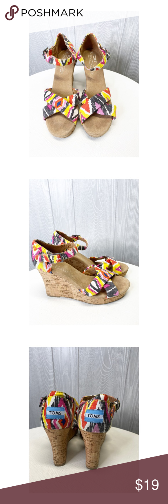 Toms Wedges 7M Euc. Toms Wedges sandals size 7. Smoke free home. Fast shipping. Toms Shoes Wedges #tomwedges Toms Wedges 7M Euc. Toms Wedges sandals size 7. Smoke free home. Fast shipping. Toms Shoes Wedges #tomwedges