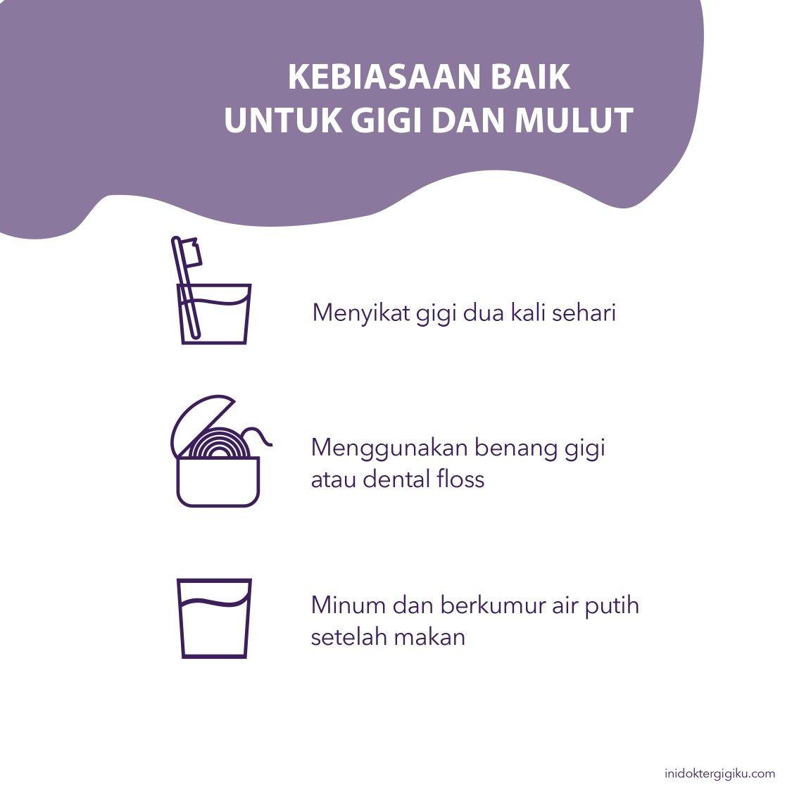 Tips Inidoktergigiku Kesehatan Gigi Dental Benang Gigi