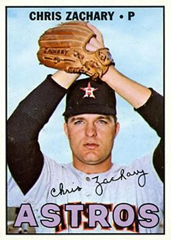 The Trading Card Database 1967 Topps 212 Chris Zachary Astros Baseball Astros Houston Astros Baseball