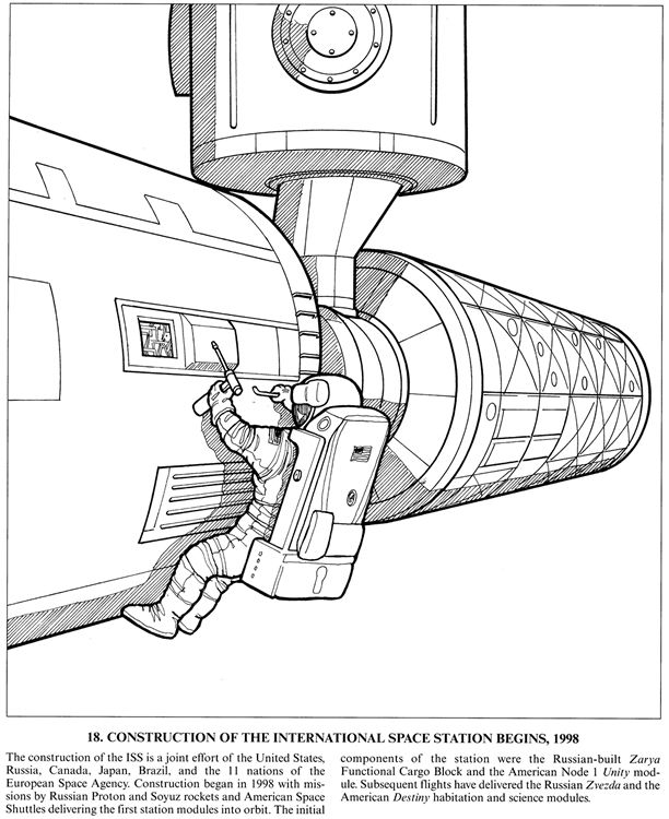 coloring pages international space station - photo#14