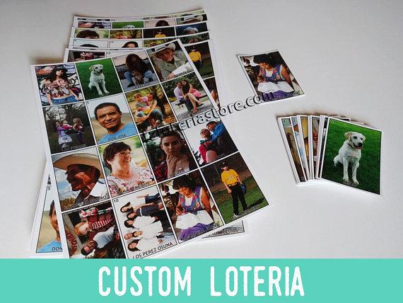 Family Custom Loteria Game Personalized Mexican Bingo Board Game