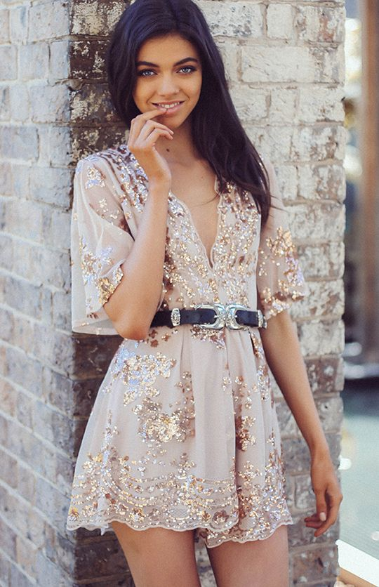 Romero Playsuit - Gold from peppermayo.com