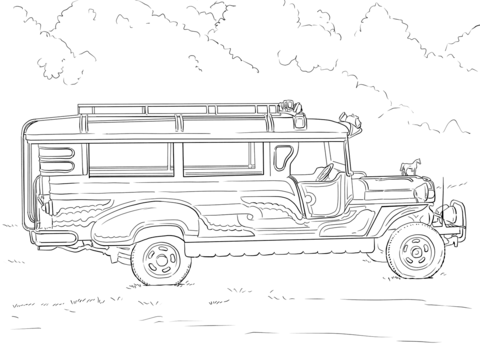 Philippine Jeepney Coloring Page Jeepney Coloring Pages Philippine Art