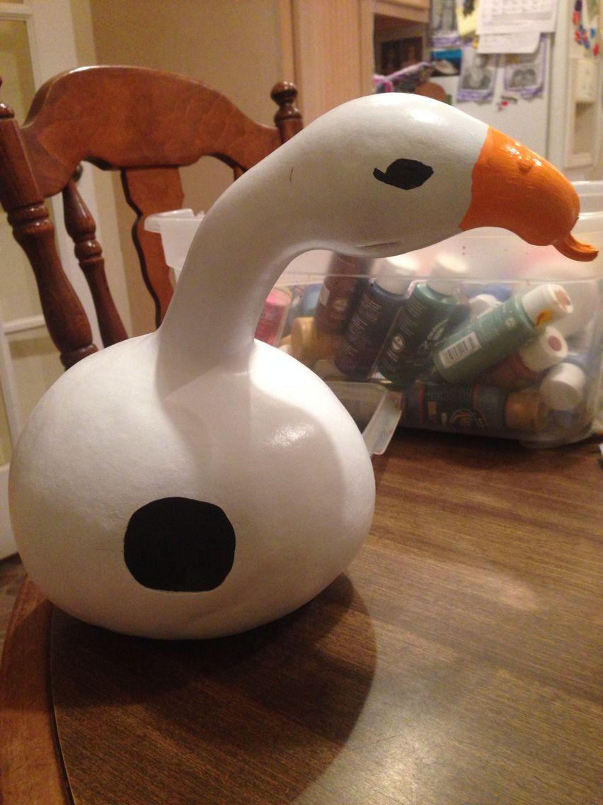 Goose gourd. Painted gourds, Gourds crafts, Gourd art