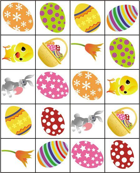 Printable Easter Memory Game - Pasen, Knutselen pasen en Memory ...