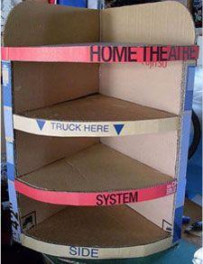 Make Temporary Bookshelves From Cardboard Hometone