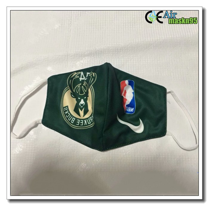 Foldable Milwaukee Bucks Reusable Dust Mask Kn95 FFP2 For