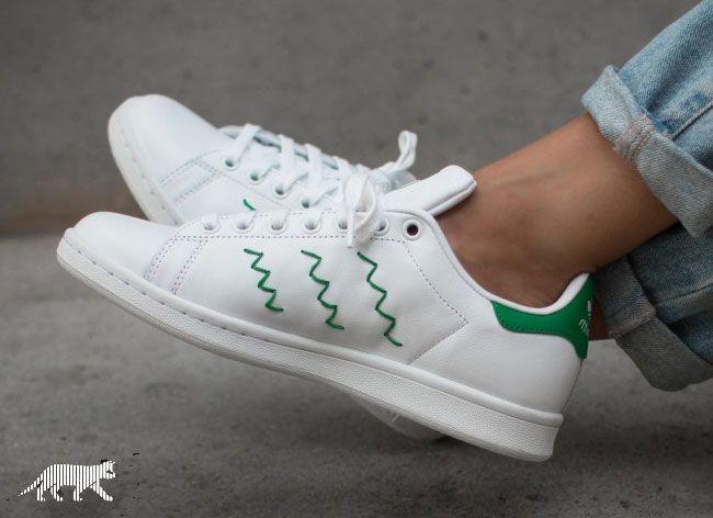Adidas Stan Smith Green Zig Zag