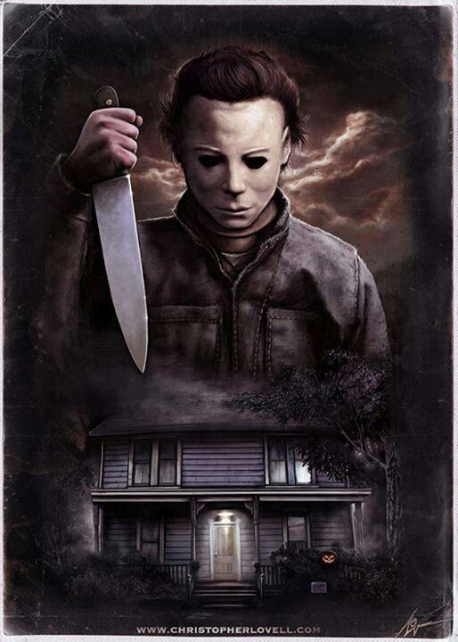 michael myers halloween starts killing at a young age and kills his dad sister and boyfriend and then grows up to be psycho - Michael Myers Halloween Decorations