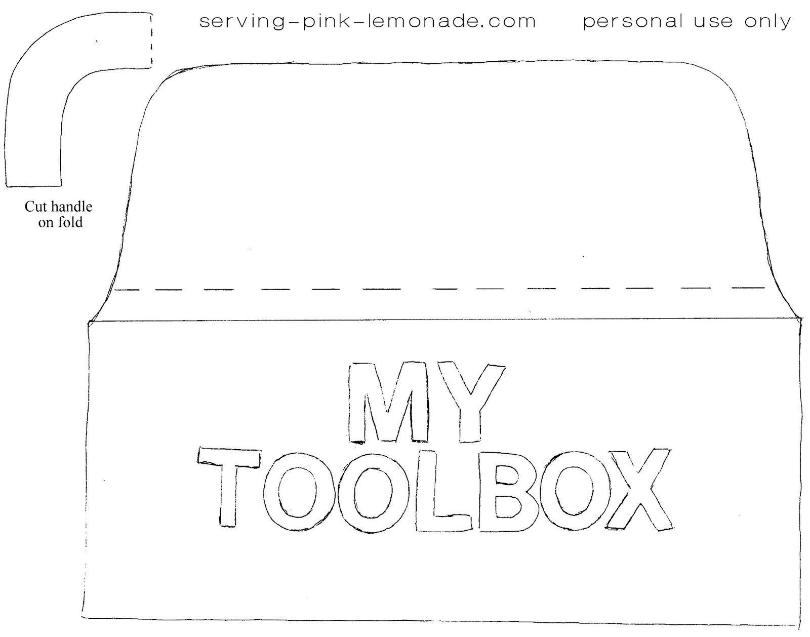 Serving Pink Lemonade Felt Toolbox Tool Box Quiet Book Templates Busy Book